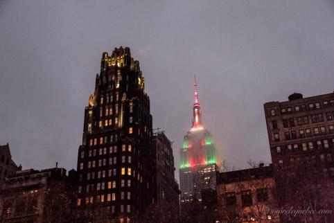 L'empire State building et son habit de lumière