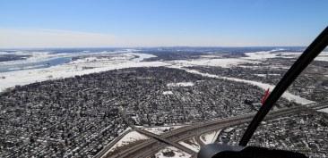 La banlieue et le St-Laurent